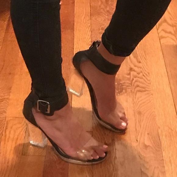 Jeffrey Campbell Shoes - Jeffrey Campbell Clear Lucite Heels Sandals 6.5